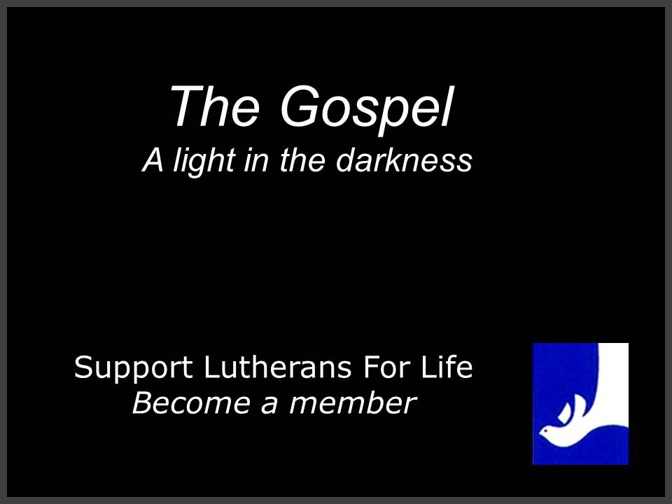 lutherans for life essay contest Mission statement equipping lutherans to be gospel-motivated voices for life vision statement every lutheran congregation upholding the god-given value of human life.